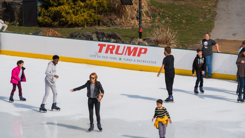 Trump ice rink in Central Park