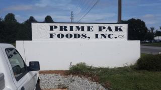 Prime Pak Foods sign.