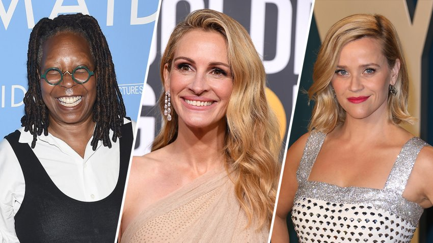 Whoopi Goldberg, Julia Roberts and Reese Witherspoon.