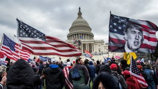 In this Jan. 6, 2021, file photo, President Donald Trump's supporters gather outside of the U.S. Capitol building.