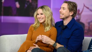 """In this Feb. 25, 2019, file photo, Kristen Bell and Dax Shepard appear on """"TODAY."""""""