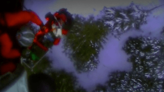This screenshot from video shows the U.S. Coast Guard rescuing a skier who was attacked by a bear in Alaska's backcountry.