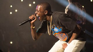 FILE - In this Oct. 30, 2014 file photo, Bobby Shmurda performs at Power 105.1's Powerhouse 2014 at the Barclays Center in the Brooklyn borough of New York.
