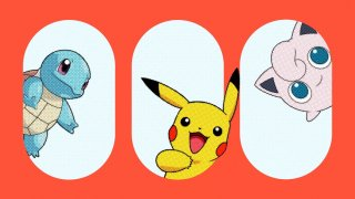 """Squirtle, Pikachu and Jigglypuff of """"Pokémon."""""""