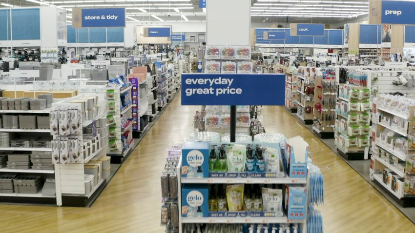 Inside a Bed Bath & Beyond store