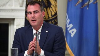 WASHINGTON, DC - JUNE 18: Governor Kevin Stitt (R-OK) speaks during a roundtable at the State Dining Room of the White House June 18, 2020 in Washington, DC. President Trump held a roundtable discussion with Governors and small business owners on the reopening of American's small business.