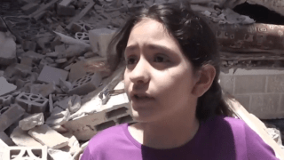 """""""I want to let out my anger, out of my body because they're killing people,"""" Nadeen Abed al Lateef told NBC News from the Gaza Strip on Sunday, May 16, 2021."""