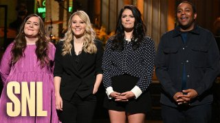 """""""Saturday Night Live"""" Season 46 Finale - Pictured (L-R) are cast members Aidy Bryant, Kate McKinnon, Cecily Strong and Kenan Thompson."""