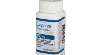 FILE - This image provided by AstraZeneca shows a bottle of the medication Lynparza. In a study released Thursday, June 3, 2021, by the American Society of Clinical Oncology, Lynparza was found to help breast cancer patients with harmful mutations live longer without disease after their cancers had been treated with standard surgery and chemotherapy.