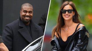 Kanye West (left), Irina Shayk (right).