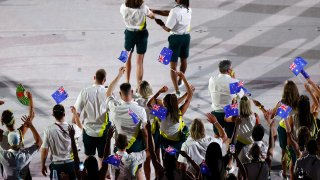 Athletes from team Australia during the Opening Ceremony of the Tokyo 2020 Olympic Games