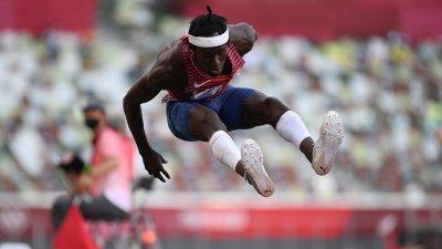 Three Americans Advance in Men's Triple Jump