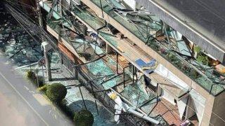 Fotografía de los daños ocasionados por una explosión en un departamento en Ciudad de México