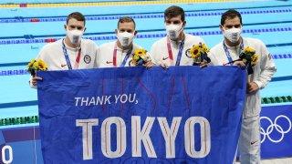 U.S. swimmers thank Tokyo