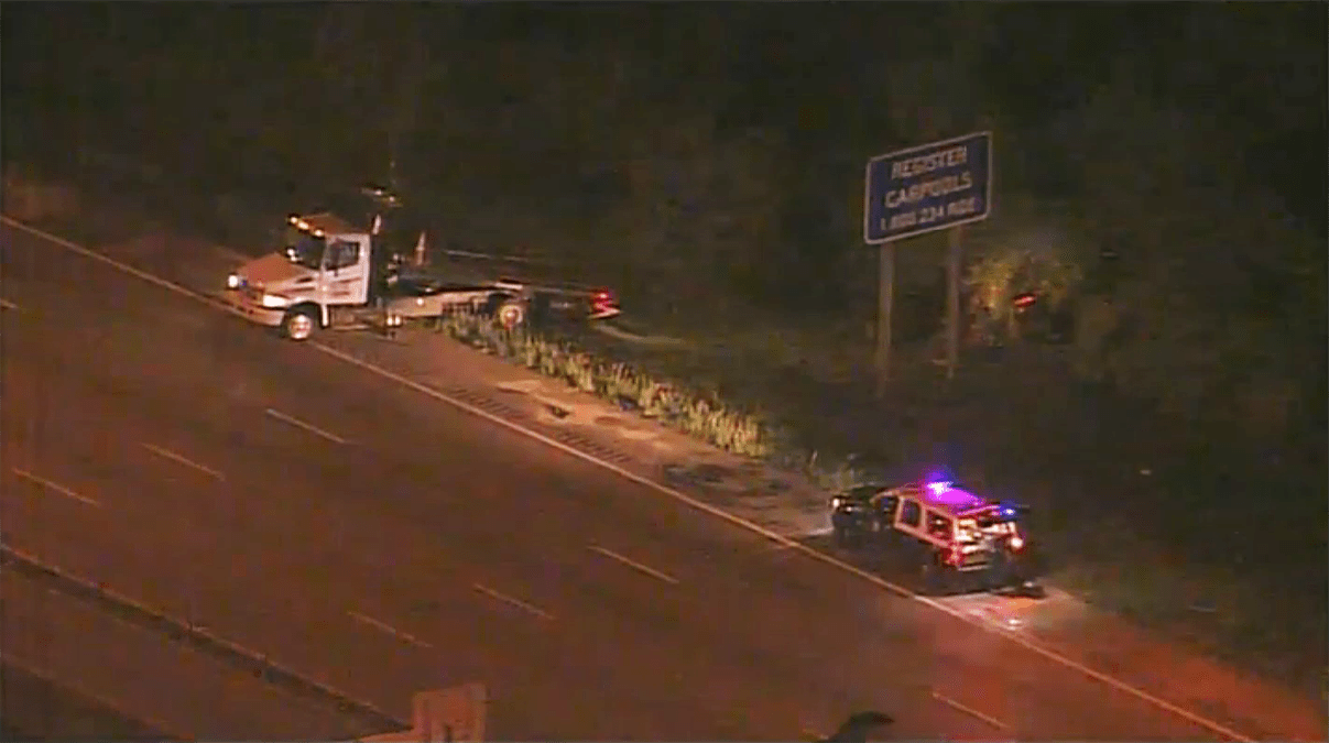 Driver Killed After Crashing Into Tree Off I-95 in Miami-Dade