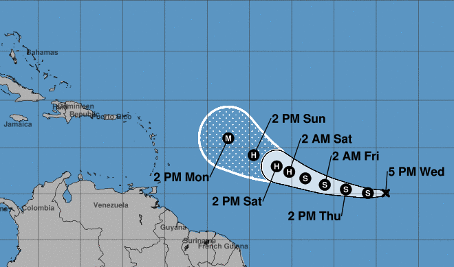 Tropical Depression 18 Forms in Eastern Atlantic: NHC
