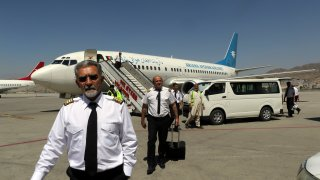 Pilots of Ariana Afghan Airlines