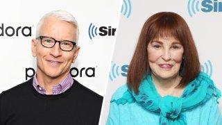 Anderson Cooper, left, and his mother Gloria Vanderbilt.