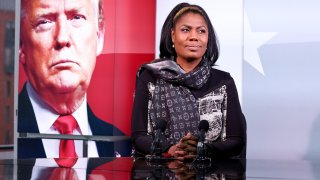 WASHINGTON, DC - NOVEMBER 01: Sky News gears up to provide special coverage of the U.S. Election with a rehearsal, as Omarosa Manigault Newman prepares for the special election program, AMERICA DECIDES, on Sunday, November 1 in Washington D.C.