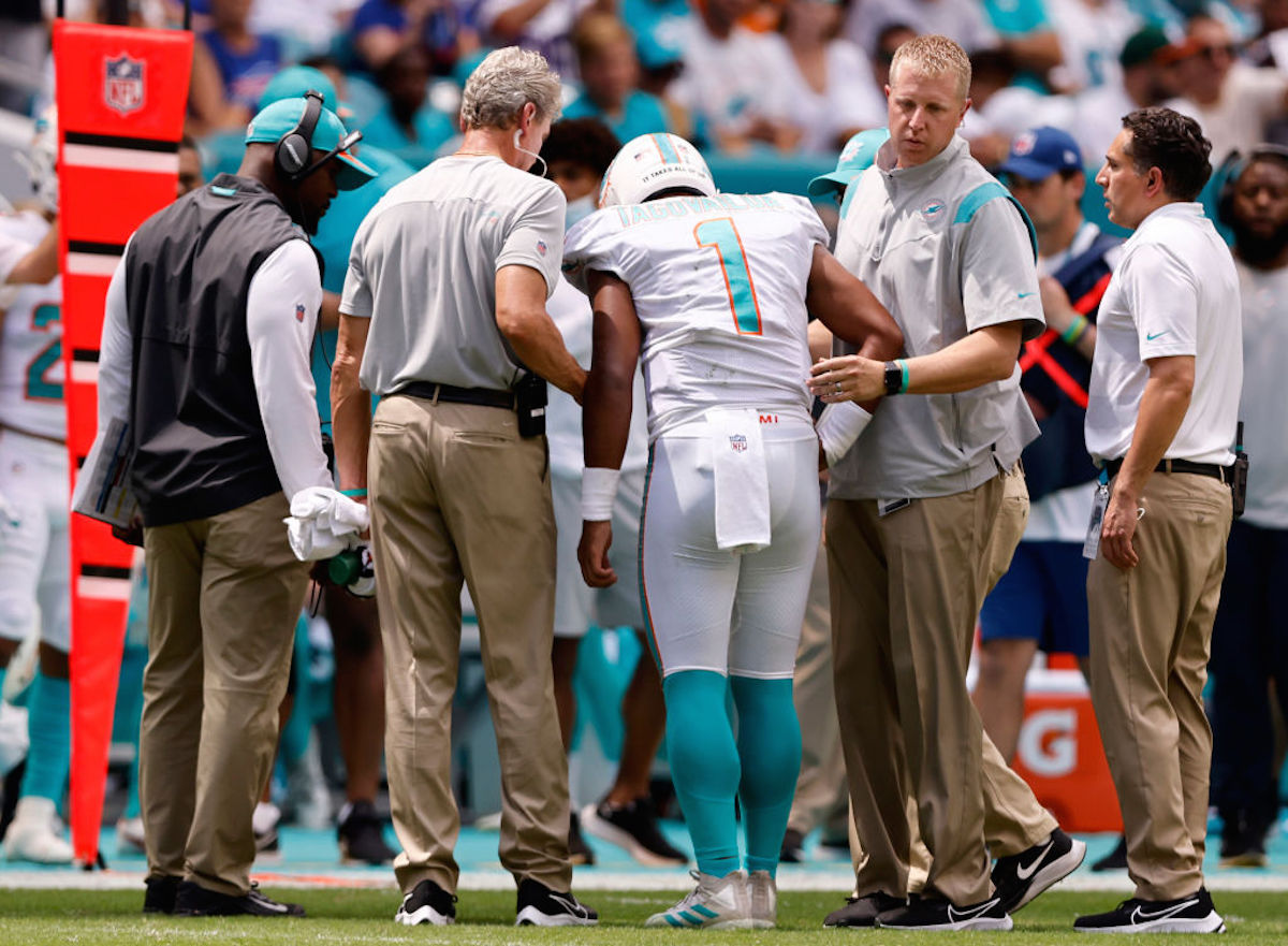 Dolphins' Tagovailoa Out for Sunday's Game After Suffering Fractured Ribs Injury