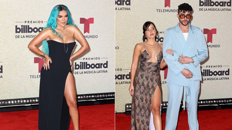 PHOTOS: Some of the Best Red Carpet Fashion at the 2021 Billboard Latin Music Awards