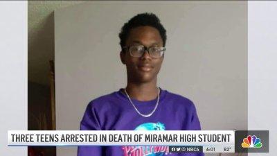 Three Teens Arrested In Death of Miramar High Student