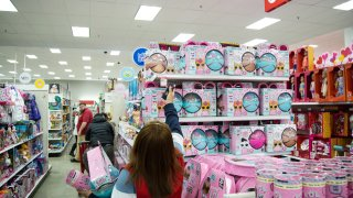 Shoppers at a Target store