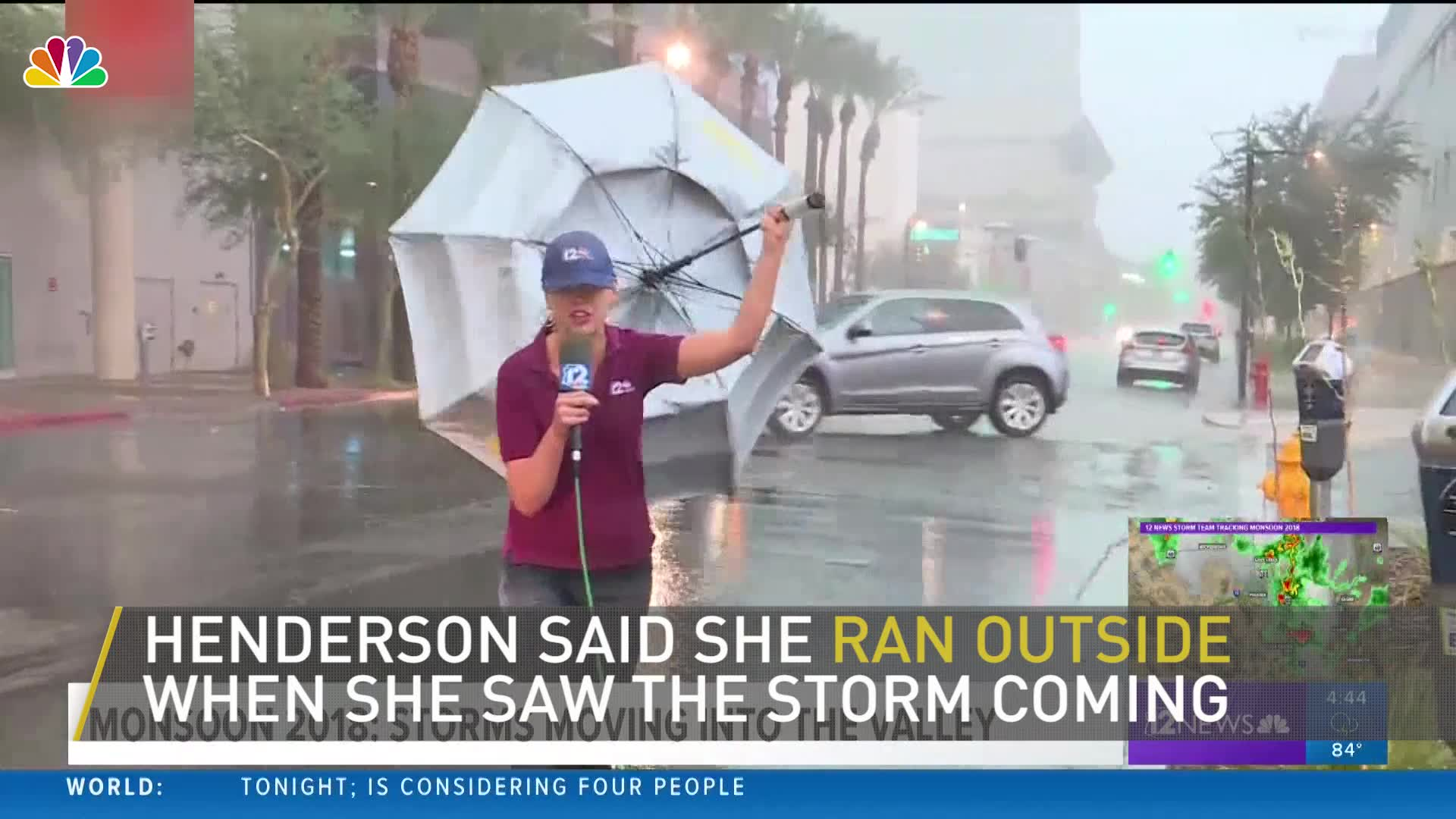 Phoenix Meteorologist Battles Monsoon   NBC New York