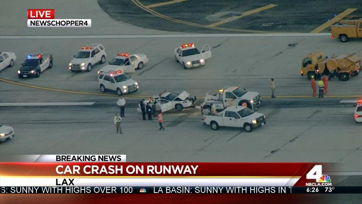 Vehicles Collide on LAX Runway