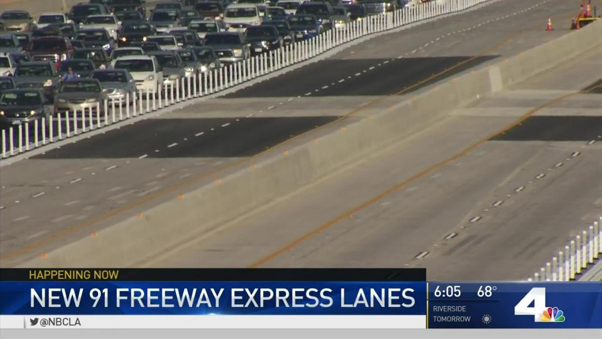 New Lanes Set to Open on 91 Freeway