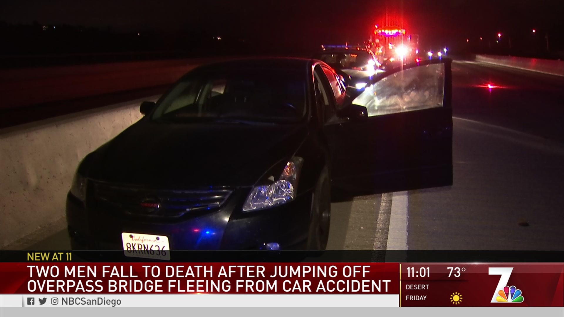 2 Teens Dead, 2 Hurt in 80-Foot Jump From Freeway Overpass After