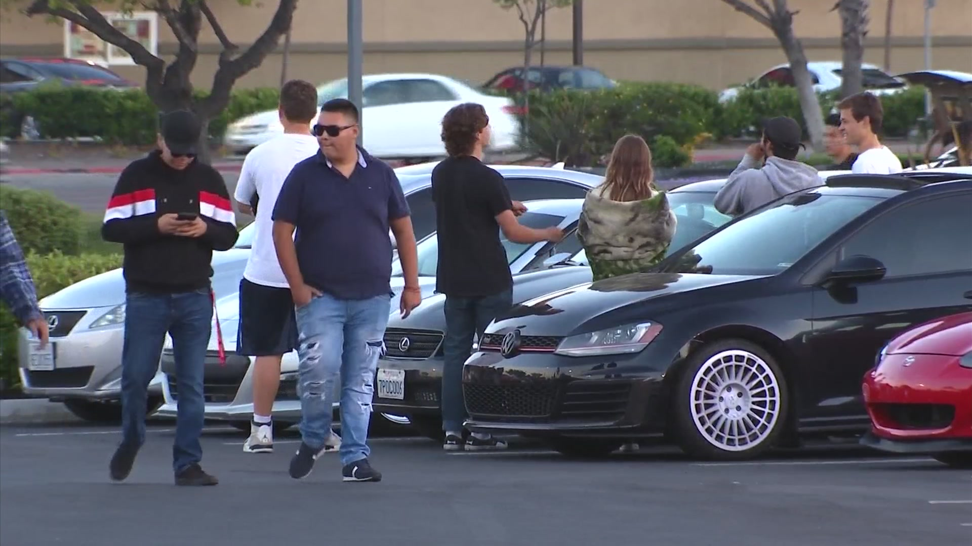 Cars Gather For Car Meet At Clairemont Target