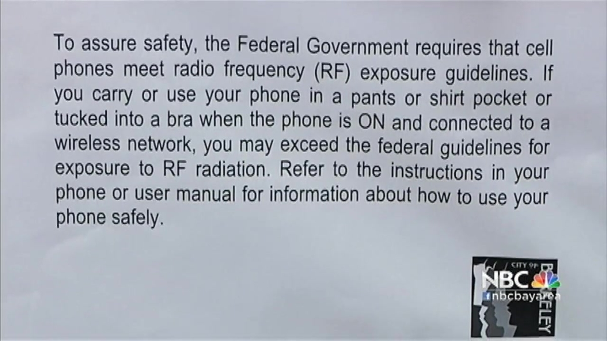 Berkeley's 'Right to Know' Cell Phone Radiation Warning