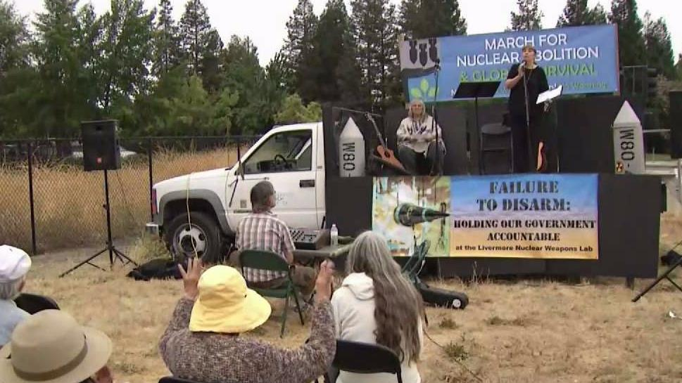 Livermore Protesters Worry About Nuclear War on A-Bomb Anniversary