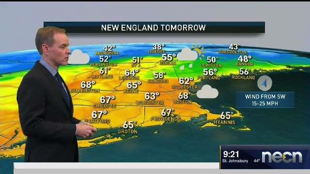 Weather Forecast: Showers and Warmth