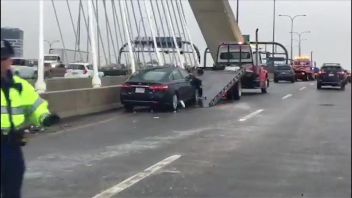 Multi-Car Crash on the I-93 Northbound On Ramp