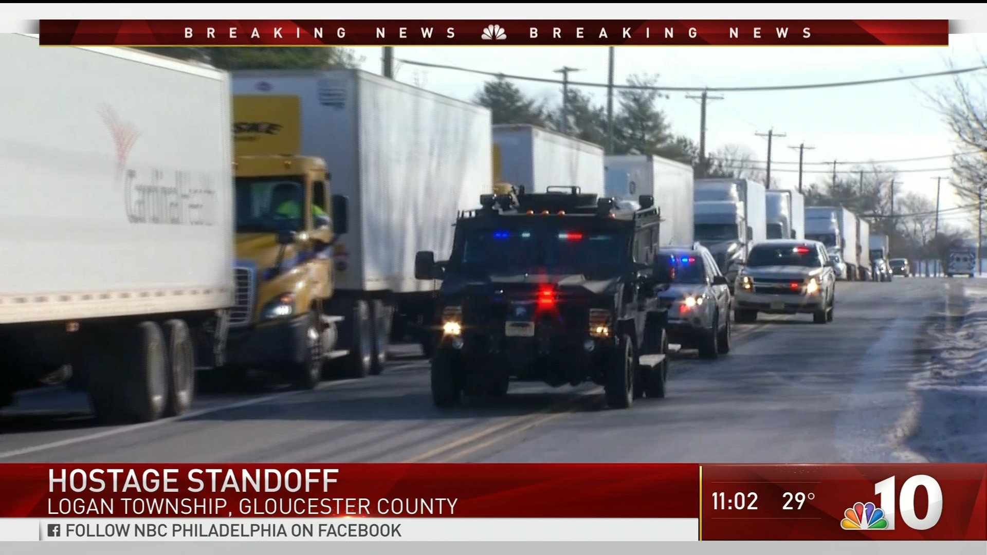 Armed Hostage Situation at New Jersey UPS Warehouse | NBC 10