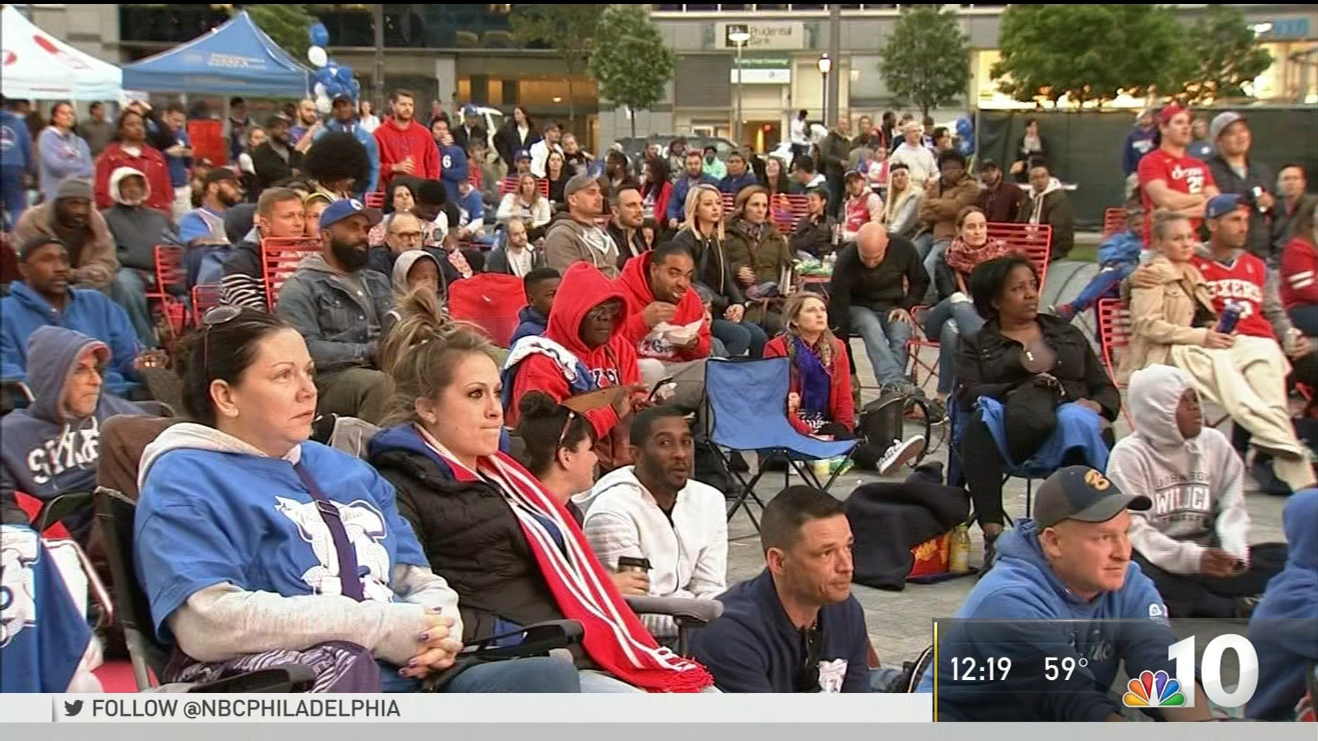 Sixers Fans Happy to Gather for Watch Party, Whatever the