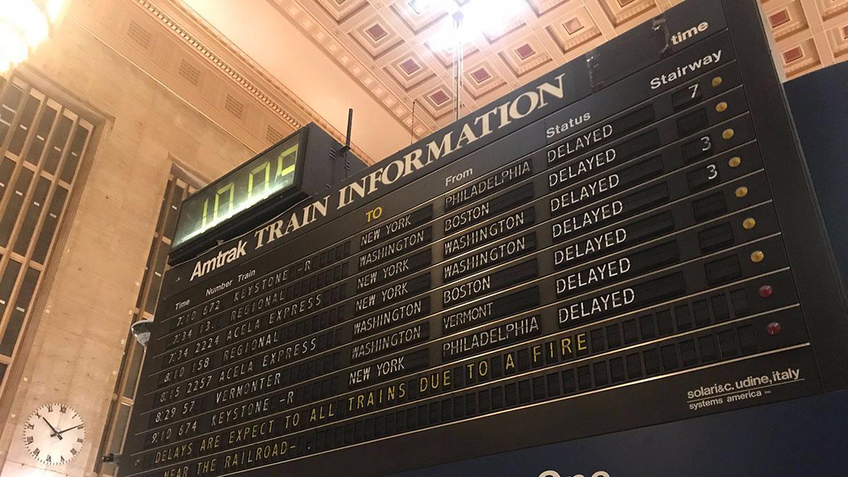 Junkyard Fire Impacts Amtrak Services