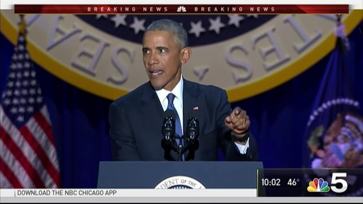 Obama Gives Farewell Speech in Chicago to Crowd of 18,000