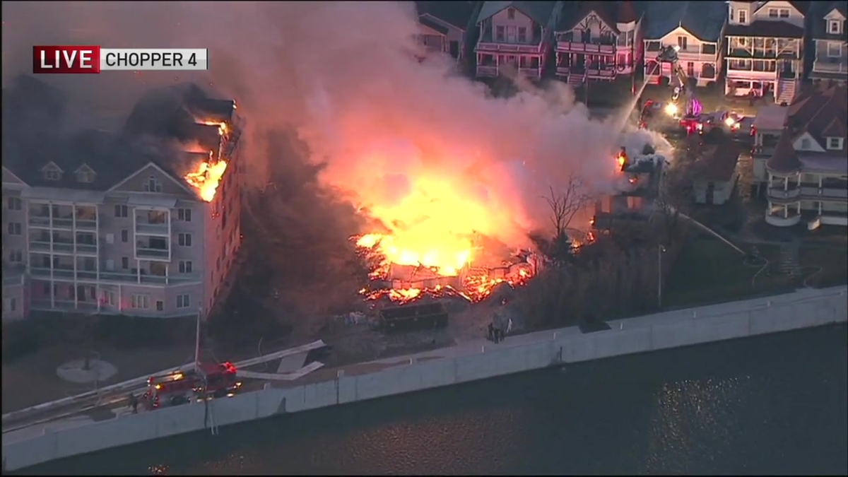 Raging Fire Burns at NJ Condo Complex
