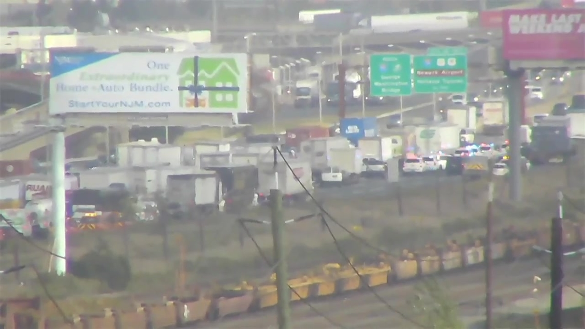 3-Truck Crash on New Jersey Turnpike Jams Traffic in Newark: Police