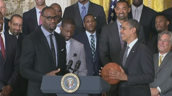 LeBron James and Dwyane Wade Speak During a White House Ceremony
