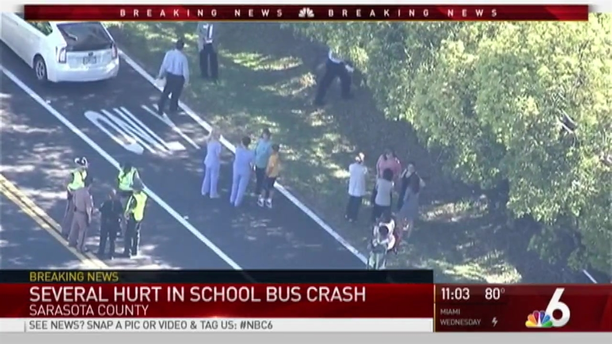 School Bus Collides With Another Car Near Sarasota