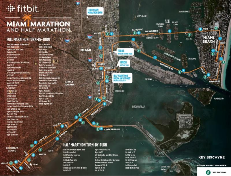 Miami Beach Issues Traffic Advisory for Miami Marathon