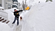 BOSTON SNOW - Resident Digs Out