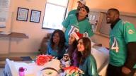 Miami Dolphins Bring Holiday Cheer at Baptist Hospital