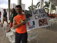 College GameDay sign from University of Miami Campus
