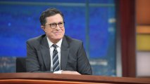 colbertemmy Colbert Goes to Russia, Vows to Search for Comey 'Tapes'