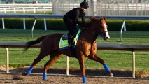 derby-justify Justify Installed the Early 3-1 Favorite for Kentucky Derby